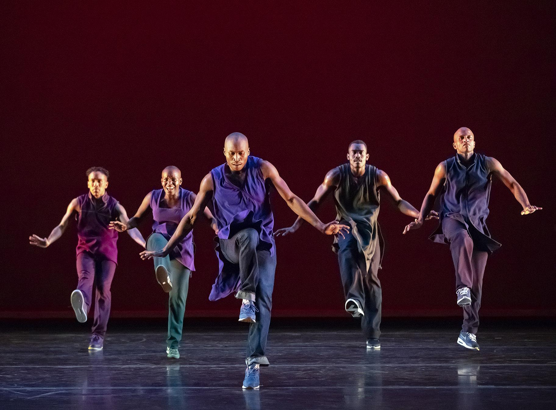 "Alvin Ailey American Dance Theater in ""Lazarus."" (Photo by Paul Kolnik)"