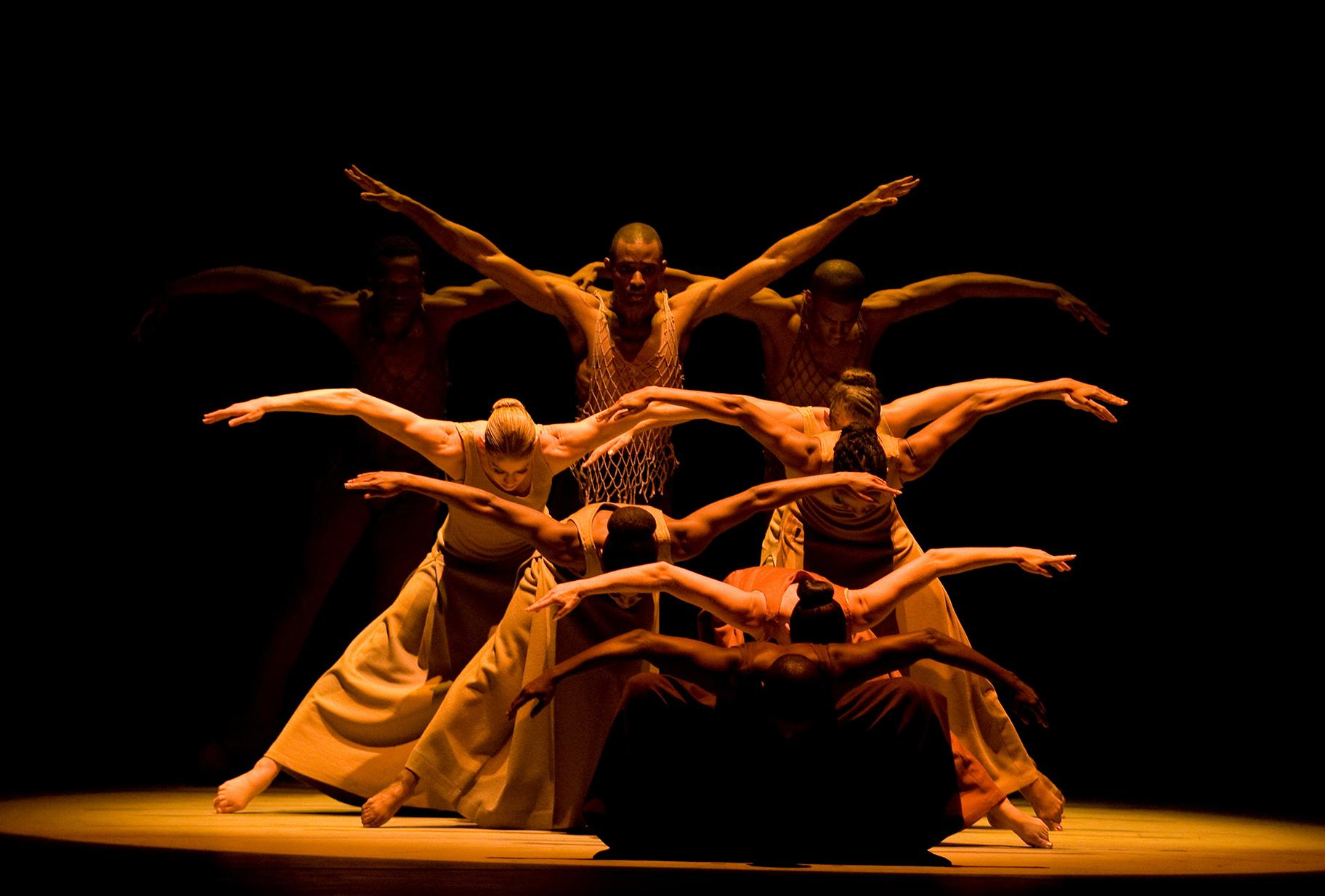 "Alvin Ailey American Dance Theater in ""Revelations."" (Photo by Nan Melville)"