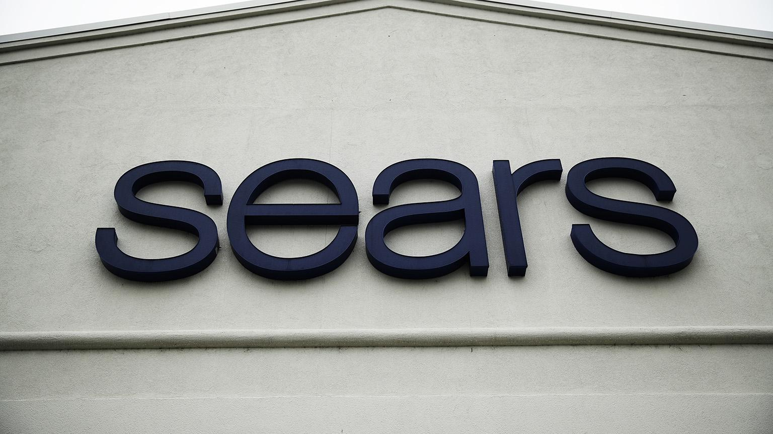 This Oct. 15, 2018 file photo shows a sign for a Sears Outlet department store is displayed in Norristown, Pa.  (AP Photo / Matt Rourke, File)