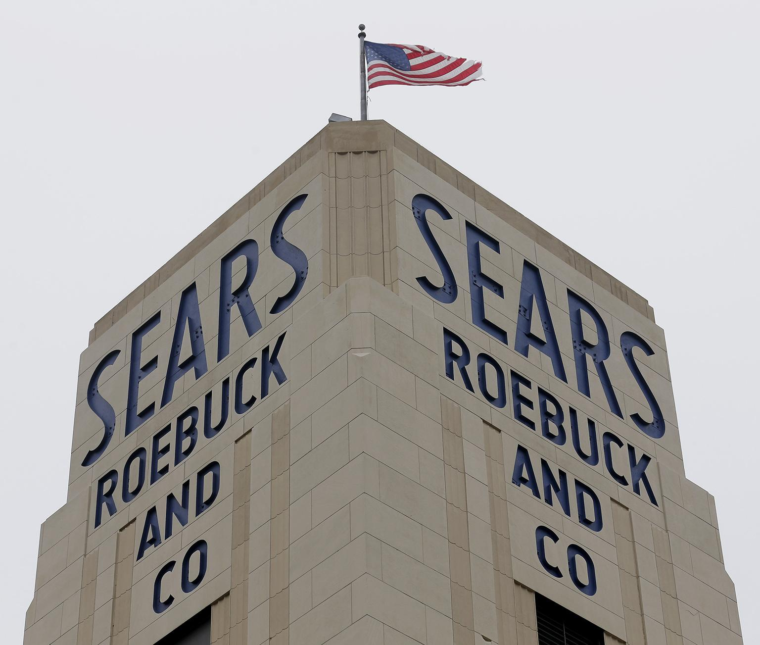 In this Jan. 8, 2019, file photo an American flag flies above a Sears store in Hackensack, N.J. (AP Photo / Seth Wenig, File)