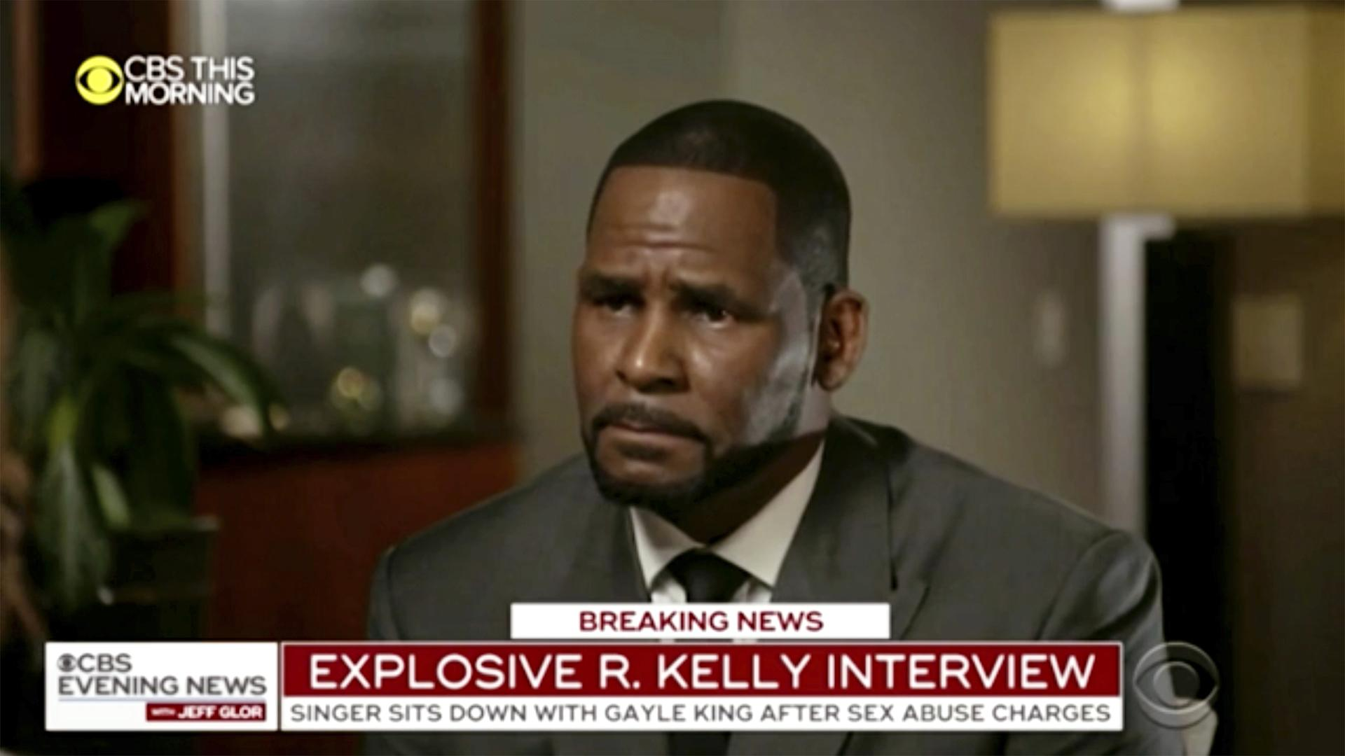 "This image provided by CBS shows R. Kelly being interviewed by Gayle King on ""CBS This Morning'"" Wednesday, March 6, 2019 in Chicago. (CBS via AP)"