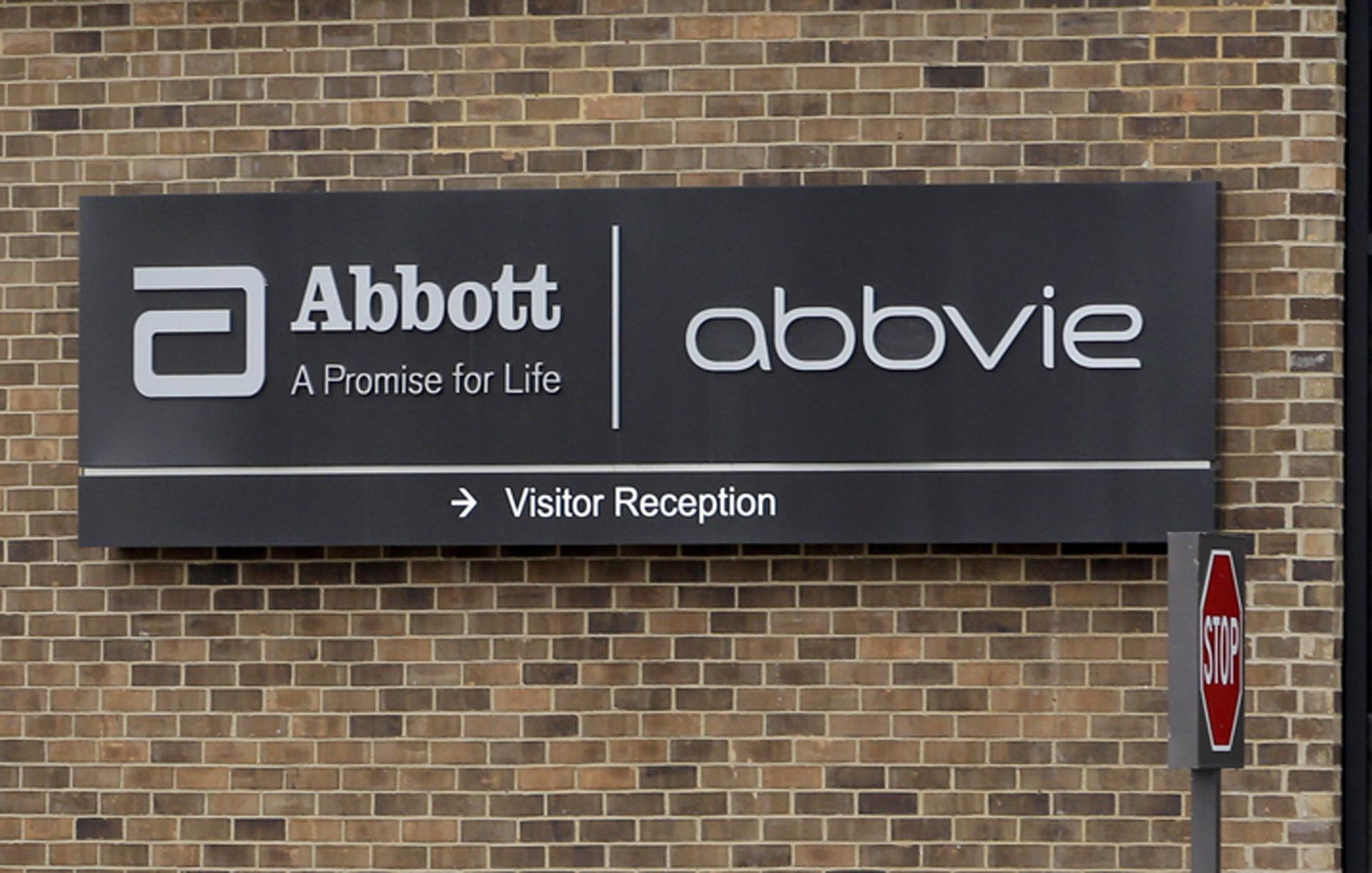 This Jan. 24, 2015, file photo, shows the exterior of AbbVie, in Lake Bluff, Illinois. (AP Photo / Nam Y. Huh, File)