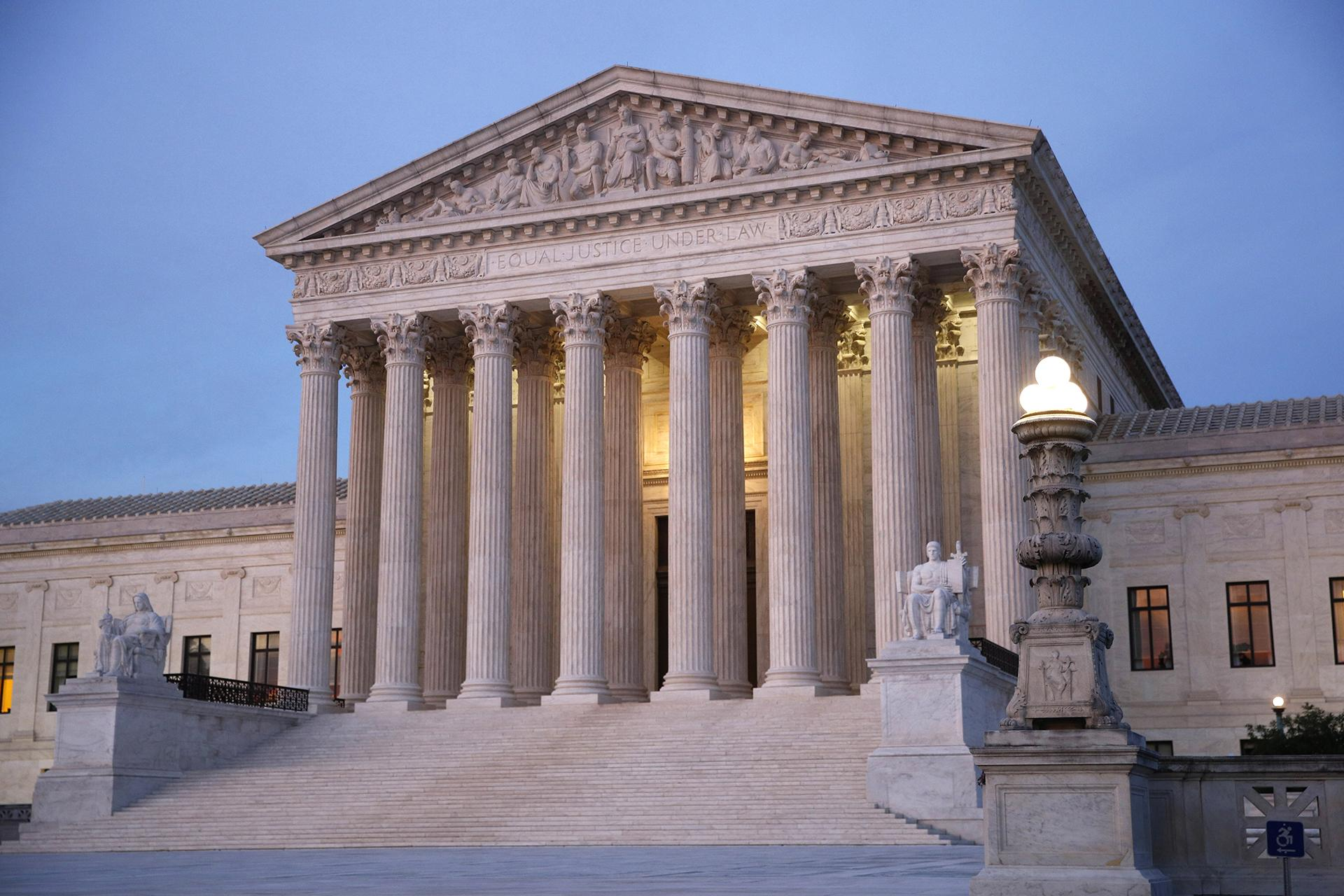 In this May 23, 2019 photo, the U.S. Supreme Court building at dusk on Capitol Hill in Washington. (AP Photo / Patrick Semansky)