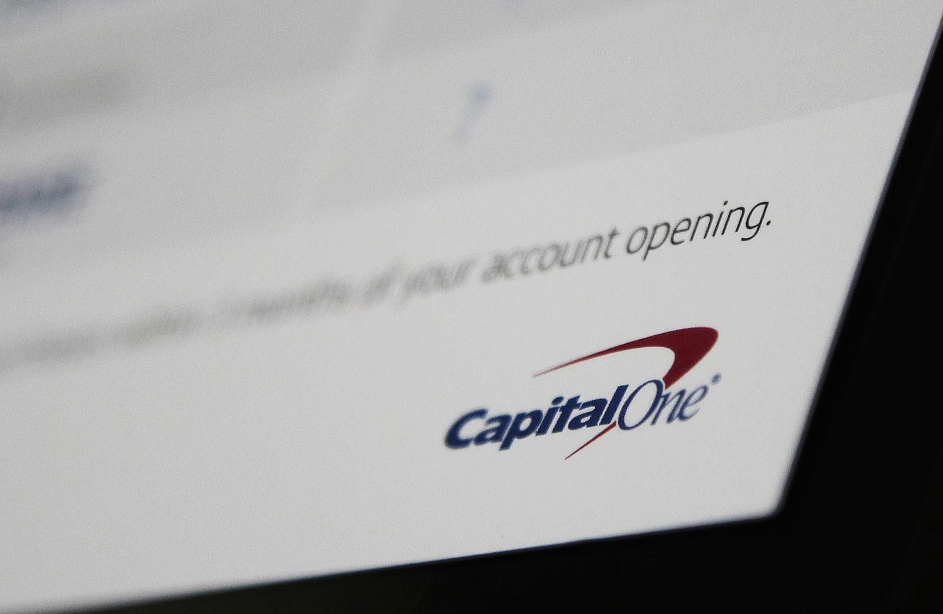 This Monday, July 22, 2019, photo shows Capital One mailing in North Andover, Massachusetts. (AP Photo / Elise Amendola)
