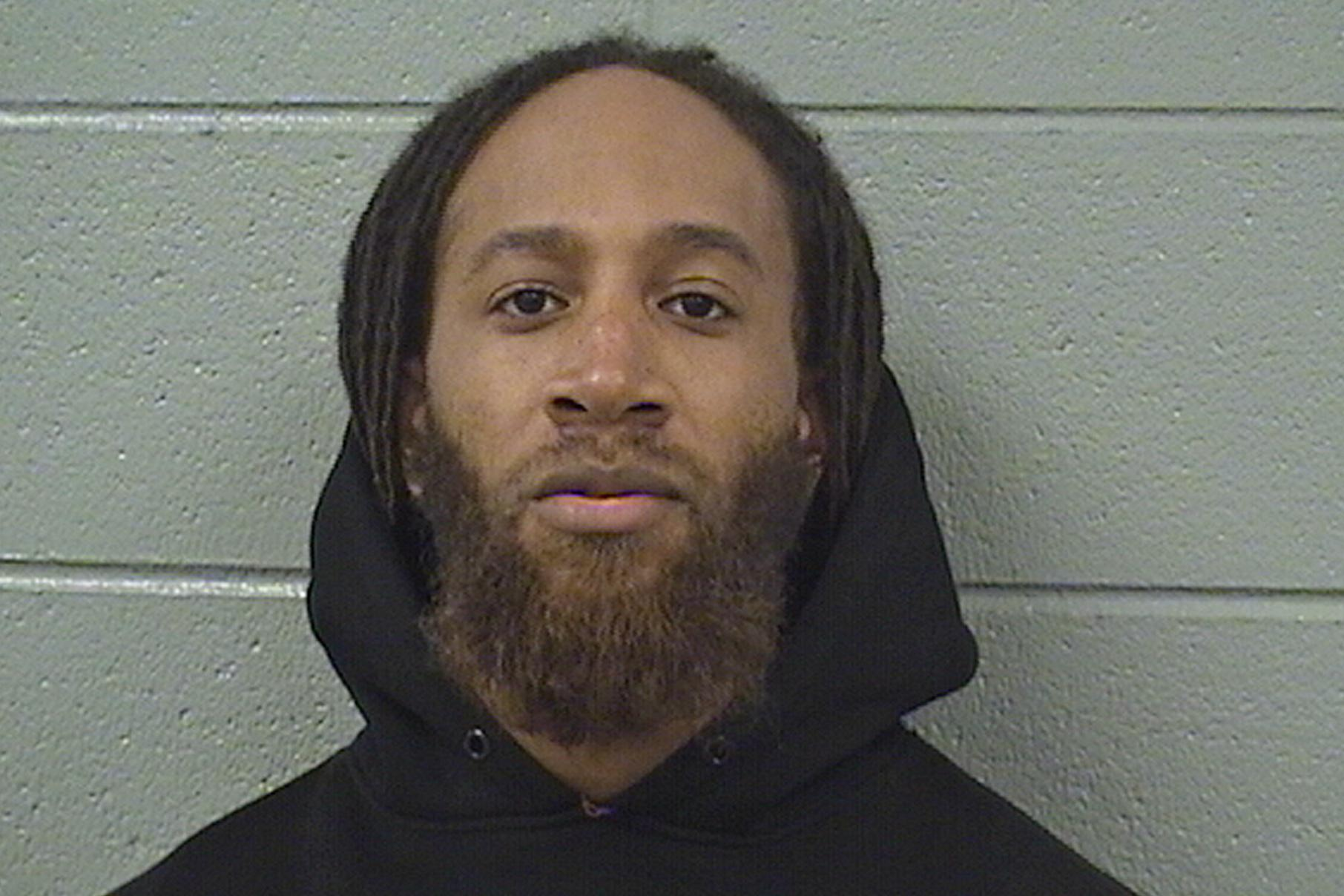 In this photo provided by the Cook County Sheriff's Office, Michael Haywood is pictured in a booking photo dated Feb. 13, 2019, in Chicago. (Cook County Sheriff's Office via AP)