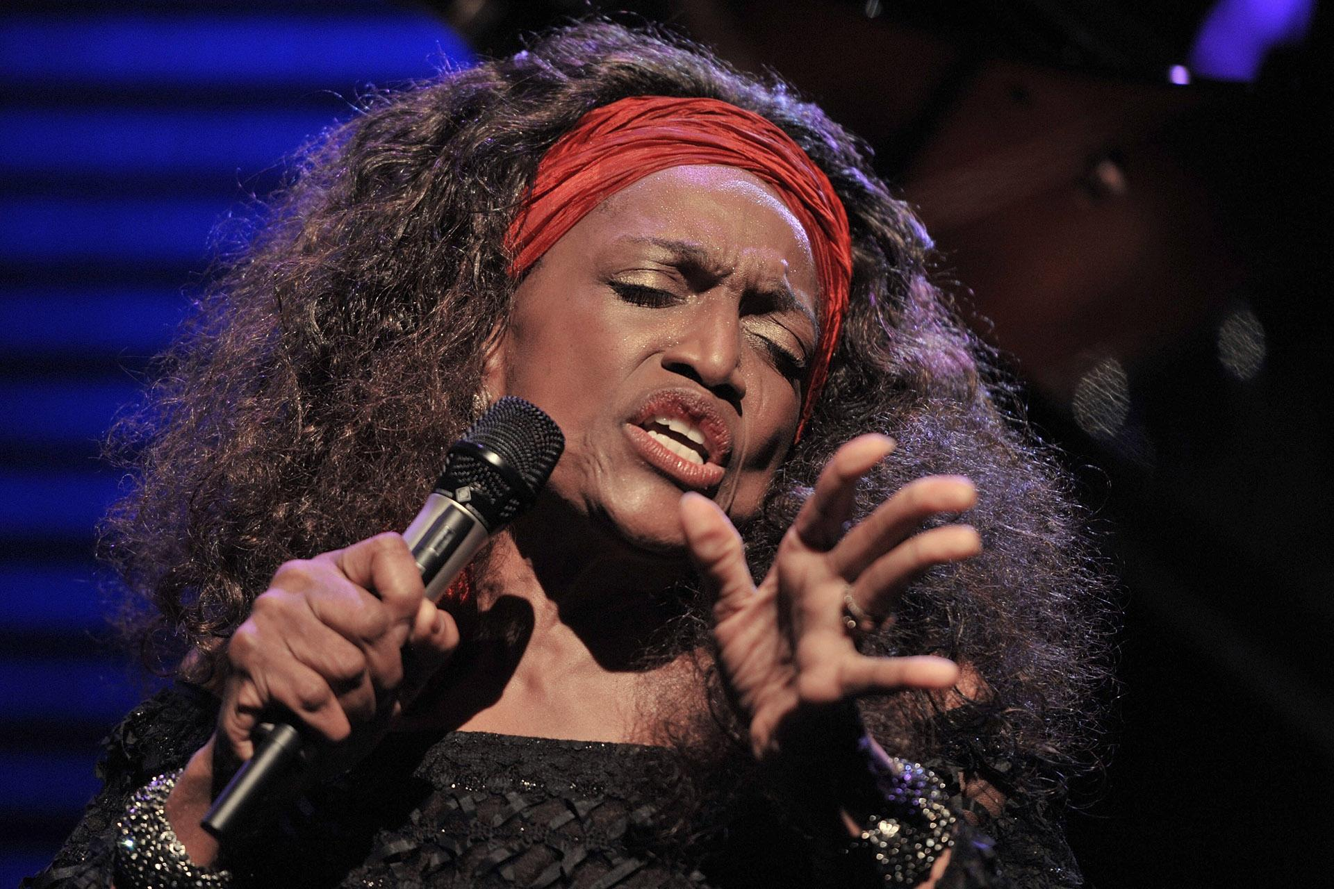 This July 4, 2010 file photo shows American opera singer Jessye Norman performing on the Stravinski Hall stage at the 44th Montreux Jazz Festival, in Montreux, Switzerland. (AP Photo / Keystone / Dominic Favre, File)