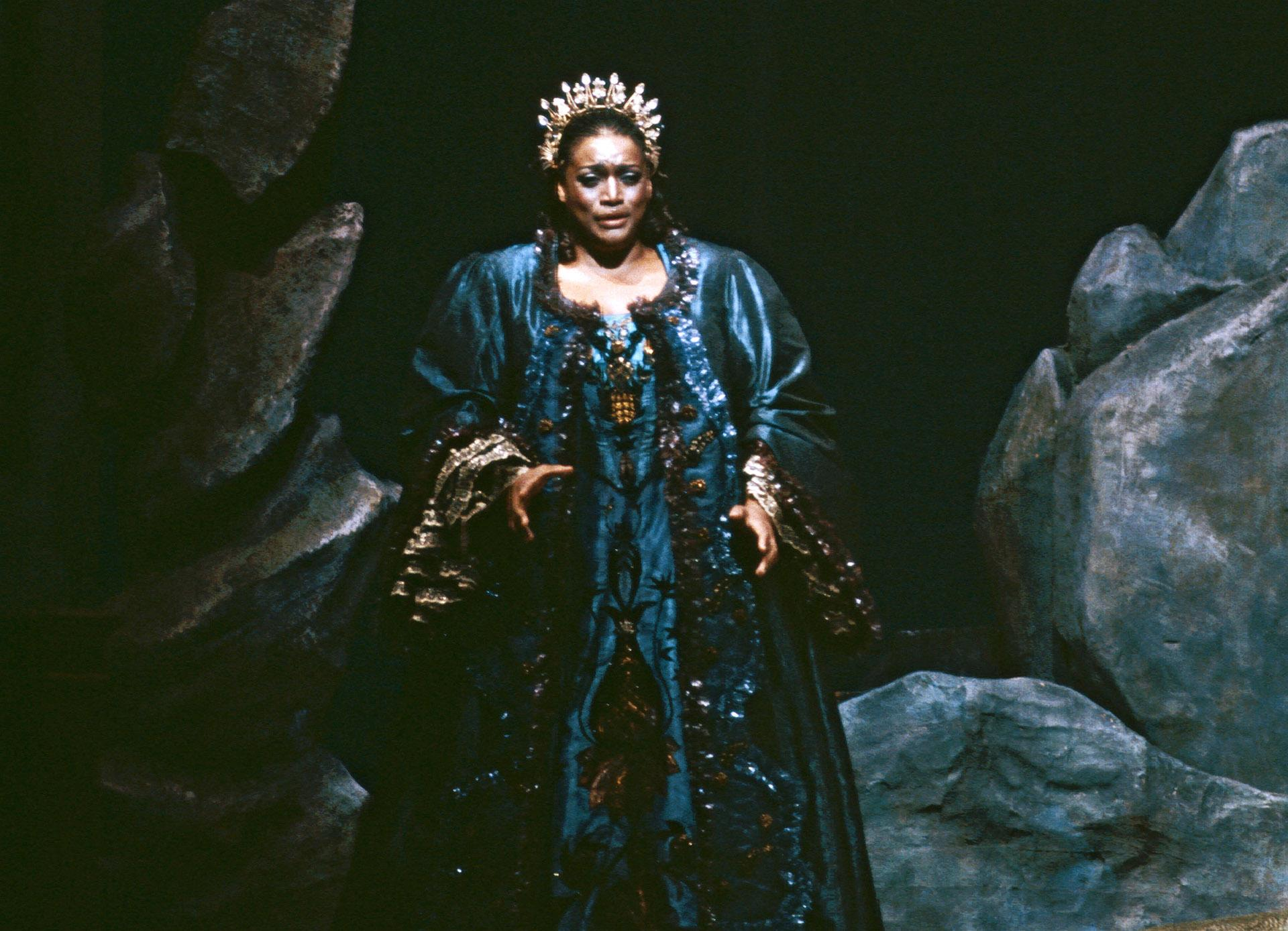 "This 1984 image released by the Metropolitan Opera shows Jessye Norman in the title role of Strauss' ""Ariadne auf Naxos,"" in New York. (Erika Davidson / Metropolitan Opera via AP)"