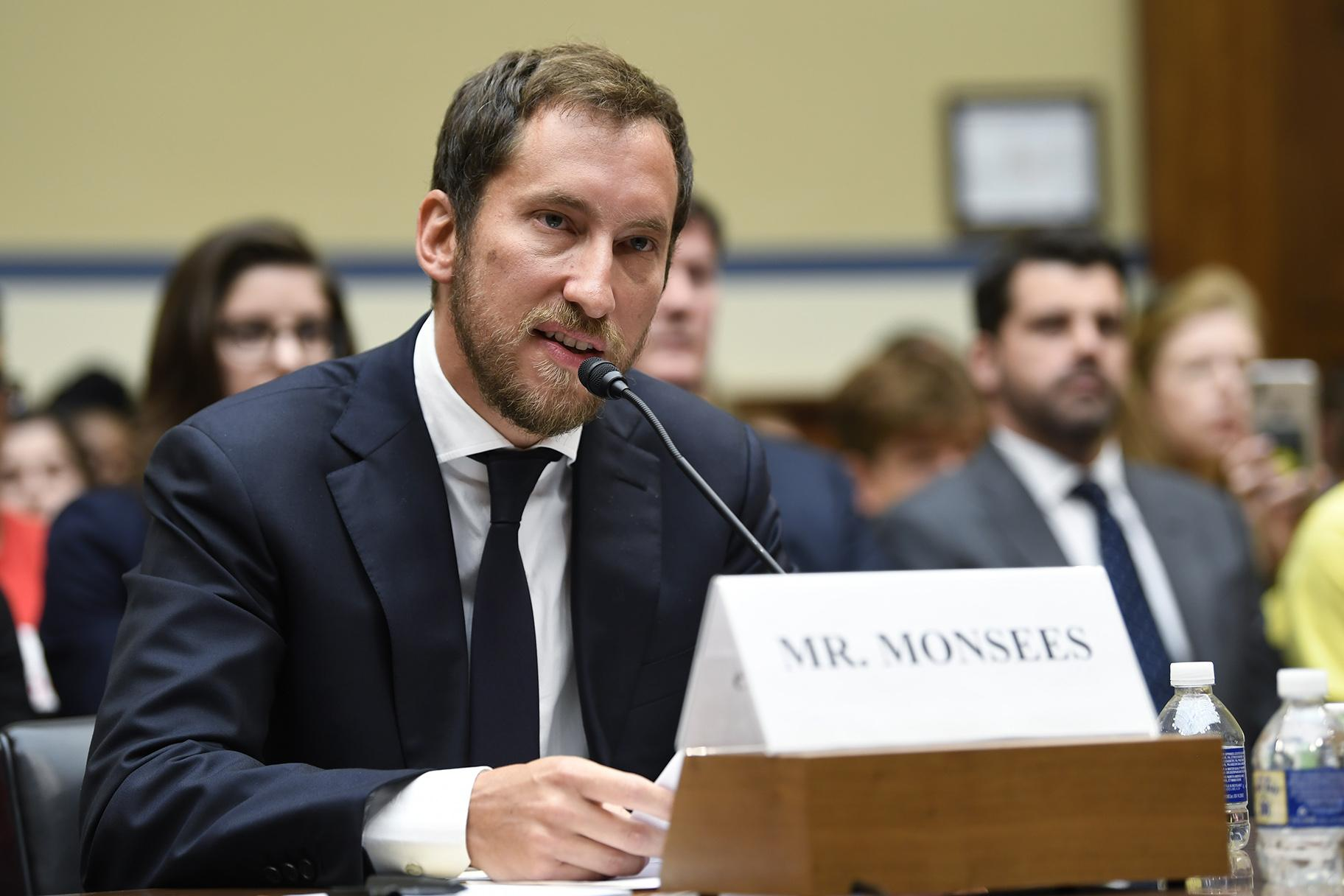 In this July 25, 2019, file photo, JUUL Labs co-founder and Chief Product Officer James Monsees testifies before a House Oversight and Government Reform subcommittee on Capitol Hill in Washington. (AP Photo / Susan Walsh, File)