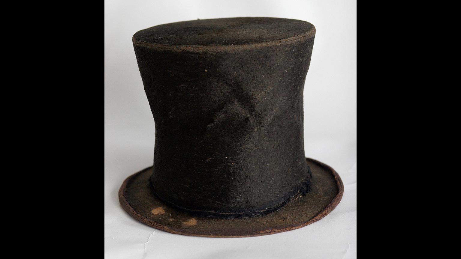 In this June 14, 2007 file photo, Abraham Lincoln's iconic stovepipe hat is photographed at the Abraham Lincoln Presidential Library and Museum in Springfield, Ill. (AP Photo / Seth Perlman, File)