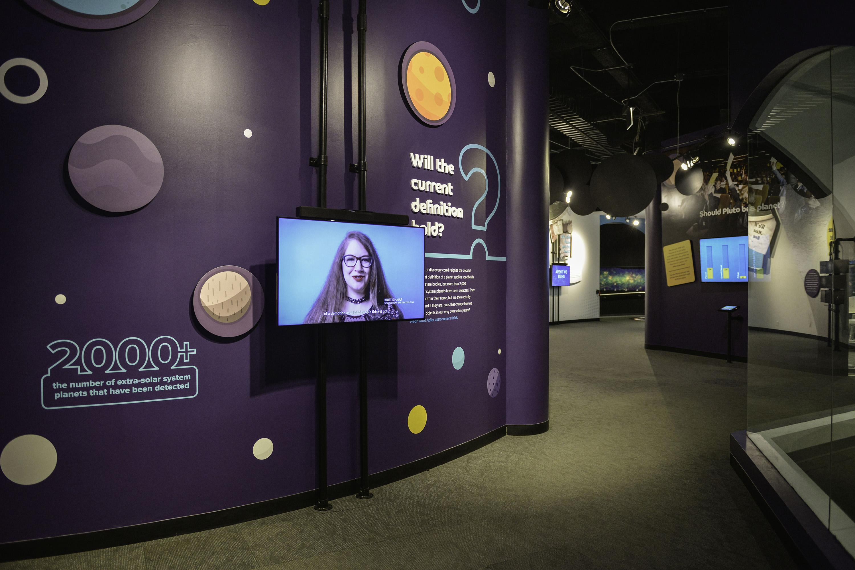 "Adler Planetarium's ""What is a Planet?"" exhibit returns this week and will be open until mid-October. (Courtesy Adler Planetarium)"