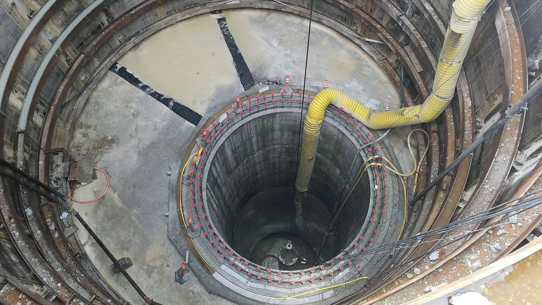 The new Albany Park Stormwater Diversion Tunnel diverts water 150 feet below the surface. (Courtesy Chicago Department of Transportation)