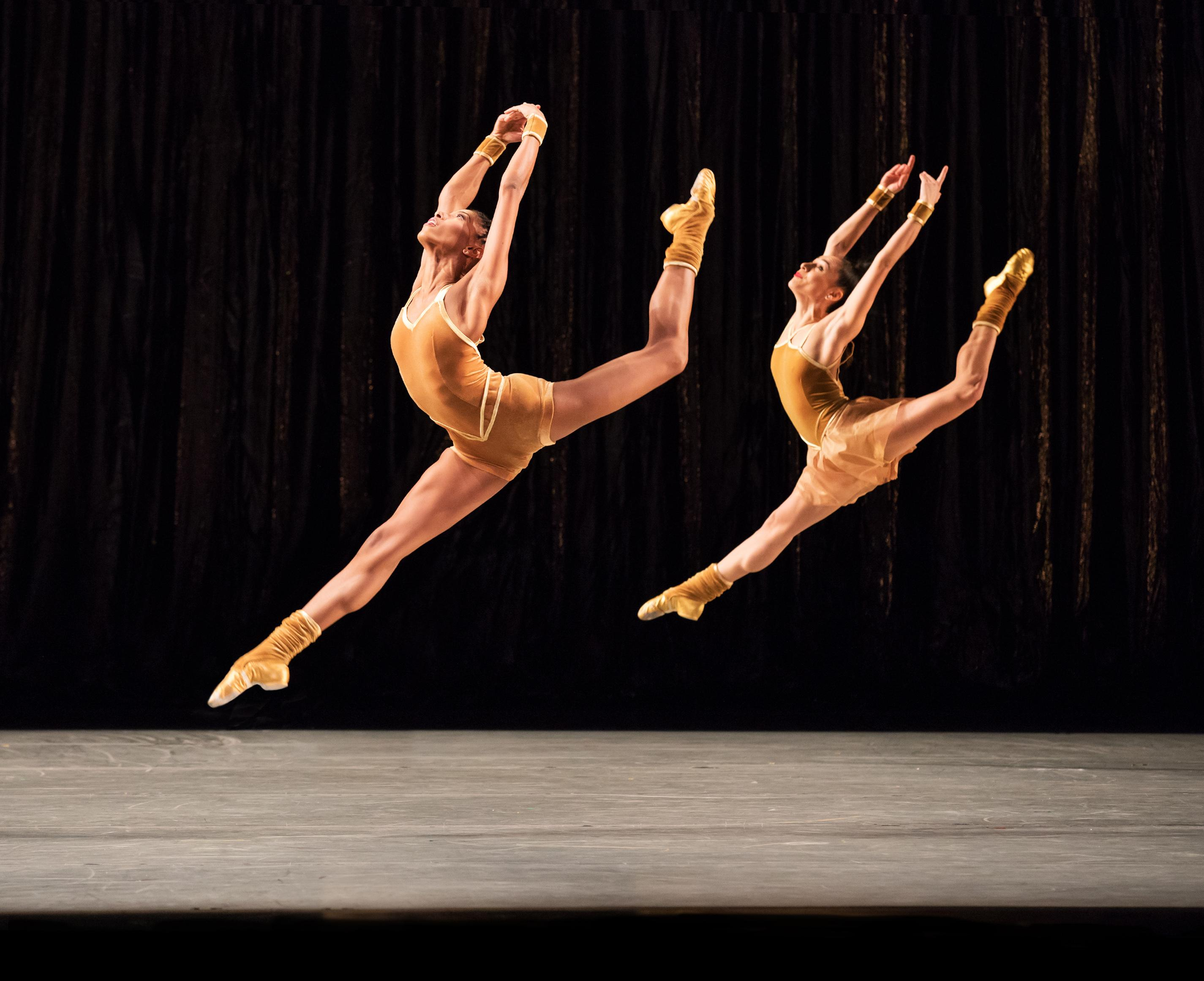 "Alvin Ailey American Dance Theater in Twyla Tharp's ""The Golden Section"" (Photo by Paul Kolnik)"