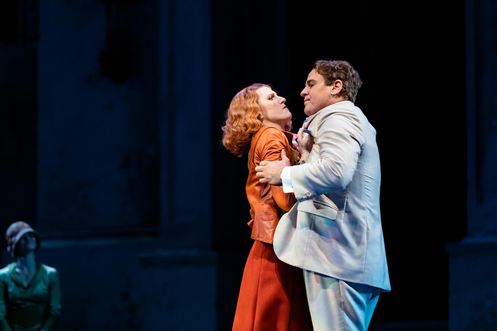 "Amanda Majeski and Lucas Meachem in Lyric Opera of Chicago's ""Don Giovanni."" (Photo by Kyle Flubacker)"