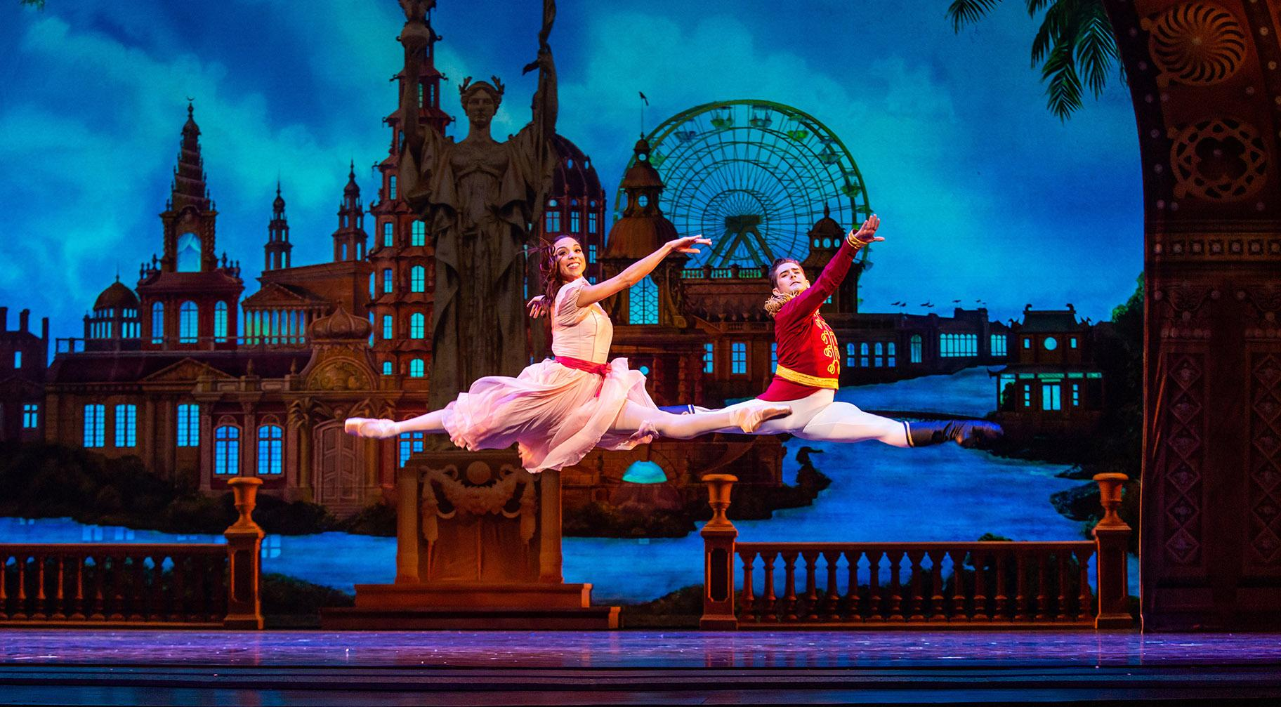 "Anais Bueno and Greig Matthews in the Joffrey Ballet production of ""The Nutcracker."" (Photo by Cheryl Mann)"