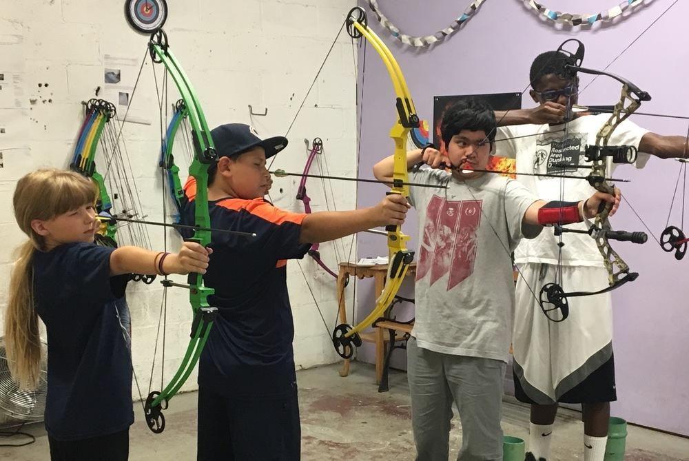 The Archery Bow Range – Chicago facility in Humboldt Park offers archery classes for kids ages 8 and up. (Courtesy Archery Bow Range – Chicago)