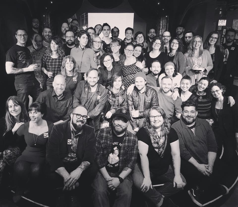 "This photo represents roughly a third of the more than 150 people that worked on ""F*cking Forty."" (Courtesy of F*cking Forty)"