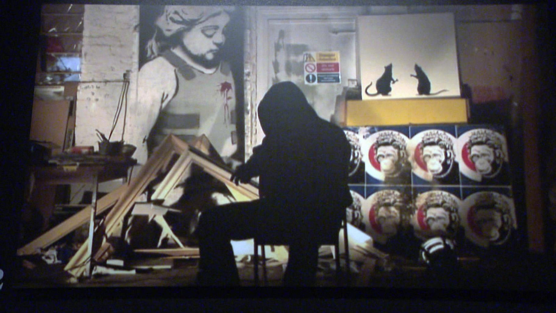 """You can visit """"The Art of Banksy"""" through October. (WTTW News)"""