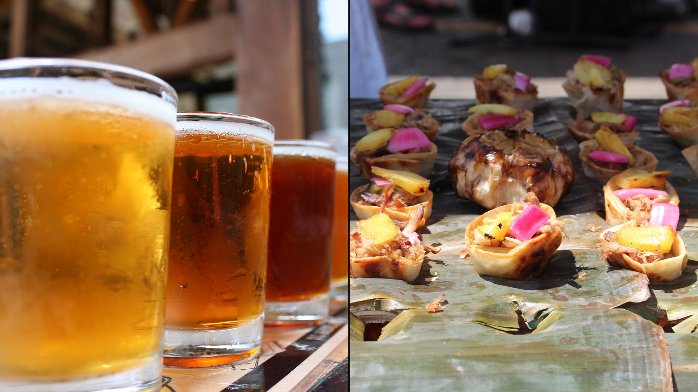 Beer and barbecue pairings are on the menu in Old Irving Park on Saturday. (Photos, from left: Quinn Dombrowski / Flickr; Beer and BBQ Challenge)