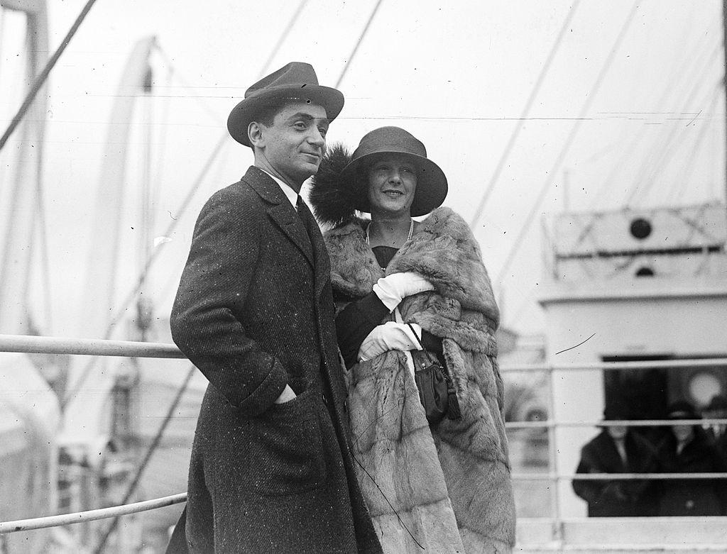 Irving Berlin and his first wife, Dorothy Goetz, in 1912.