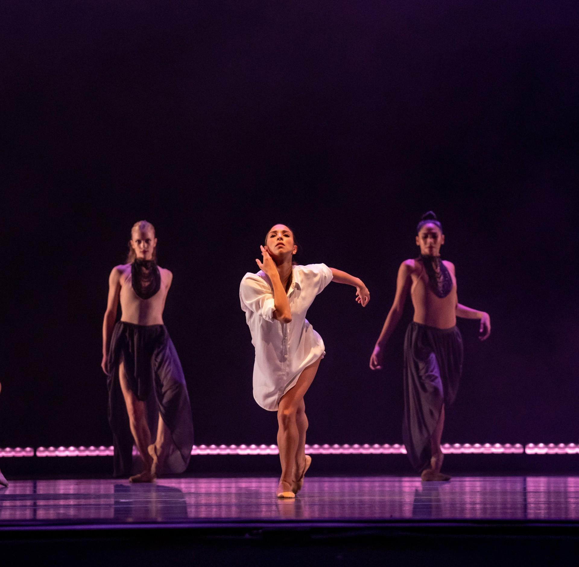 "Anais Bueno, Brooke Linford and Christine Rocas perform in ""Bolero."" (Photo by Cheryl Mann)"