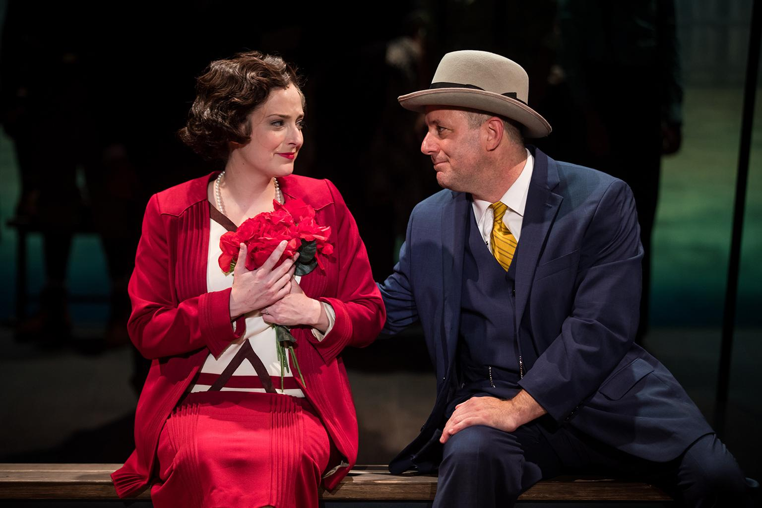 Bonnie (Dara Cameron) and Knute (Stef Tovar) fall in love again. (Credit: Justin Barbin)