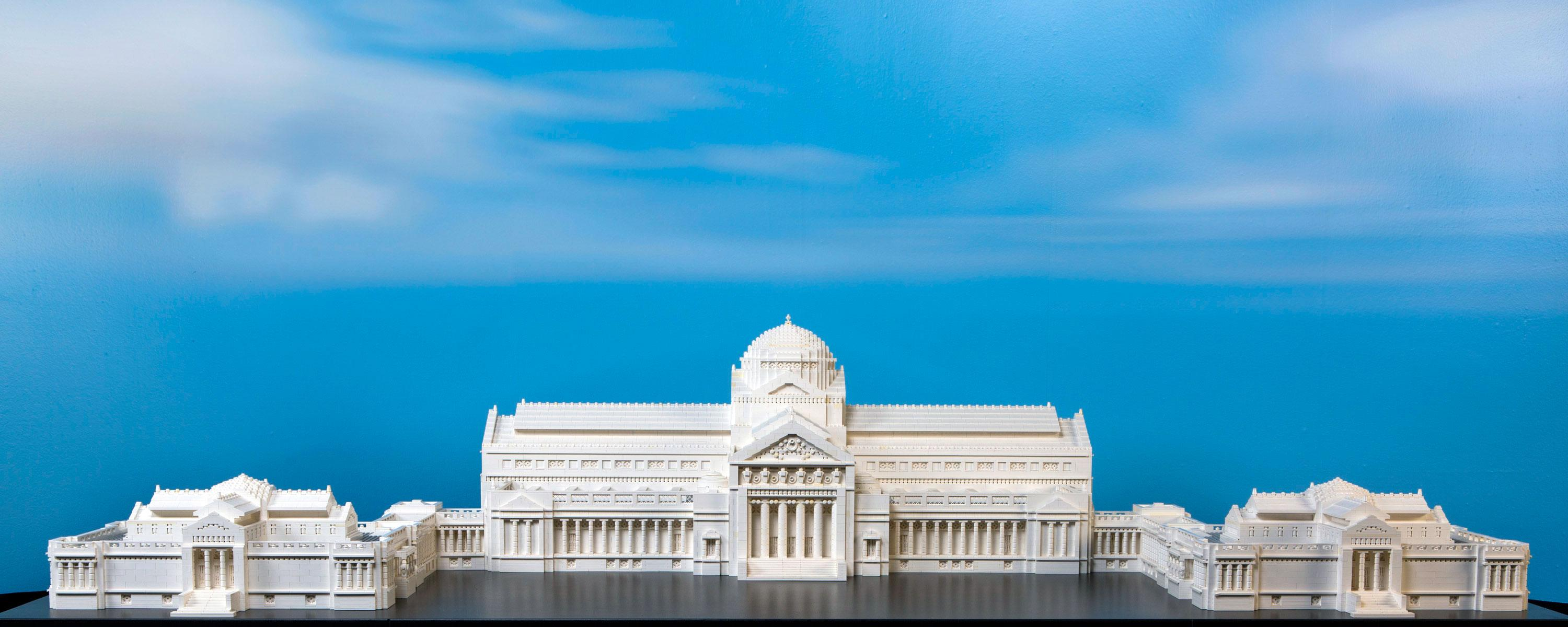 Adam Reed Tucker built a Lego model of the Museum of Science and Industry as its original building: the Palace of Fine Arts. (J.B. Spector / Museum of Science and Industry)