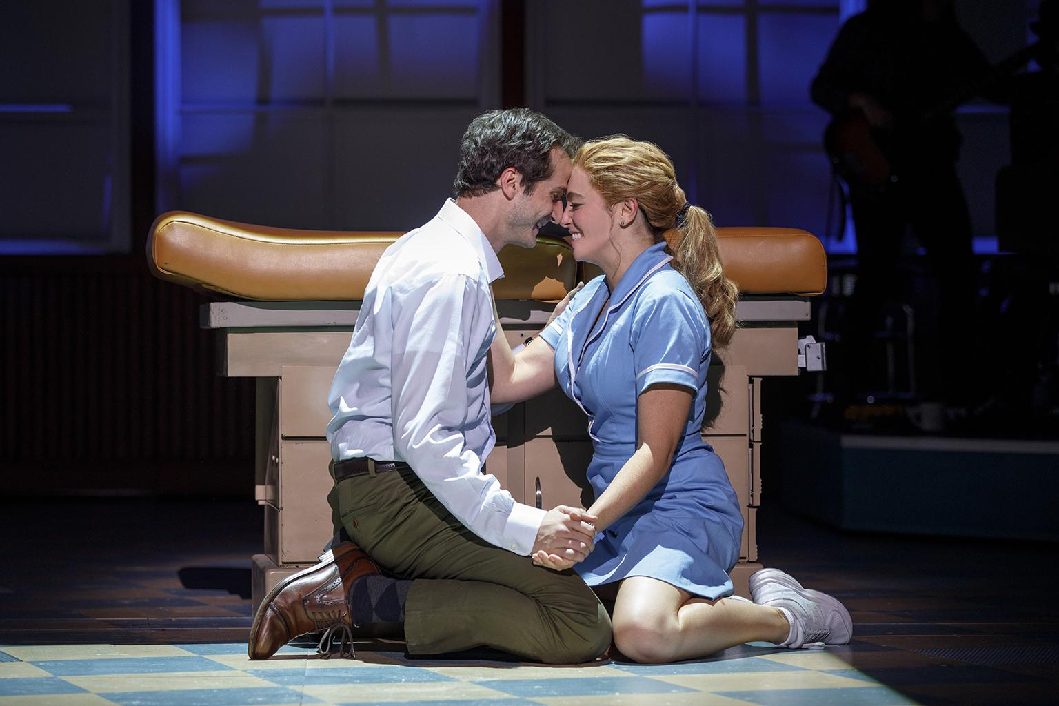 "Bryan Fenkart and Desi Oakley in ""Waitress."" (Credit: Joan Marcus)"