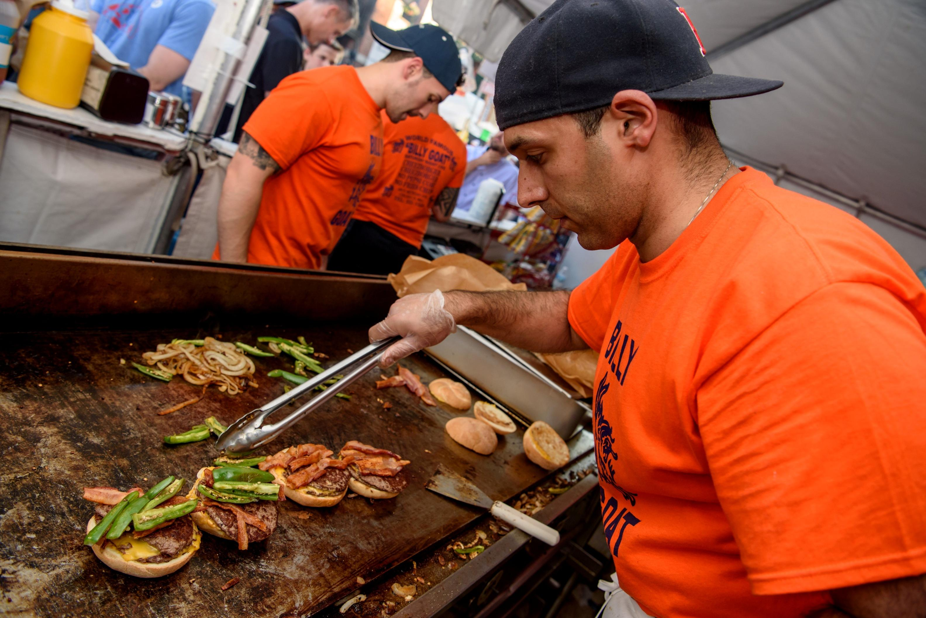 Roscoe Village Burger Fest is setting the grill on fire from September 4 to 5, 2021. (Courtesy of Special Events Management)