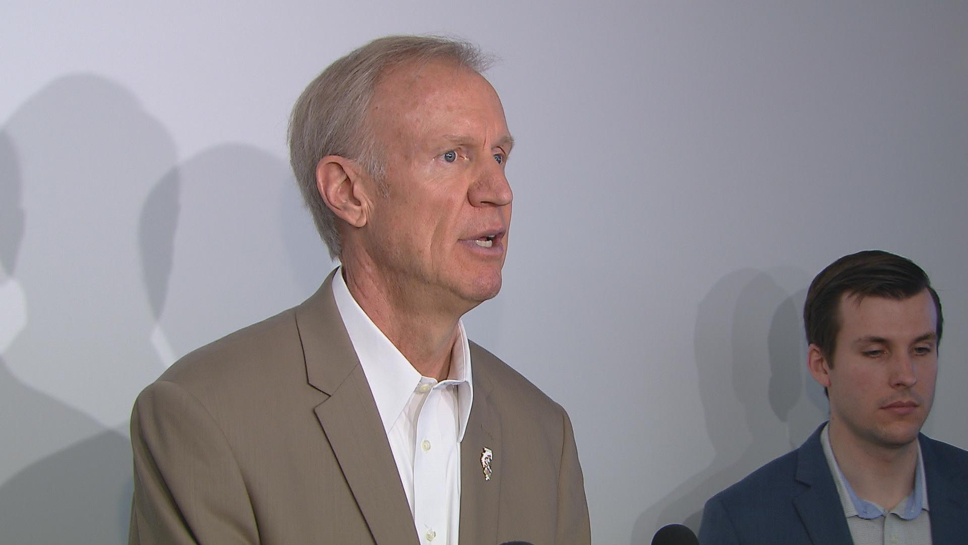 """In private, the president and the mayor are very supportive of our reforms,"" said Gov. Bruce Rauner on Monday."