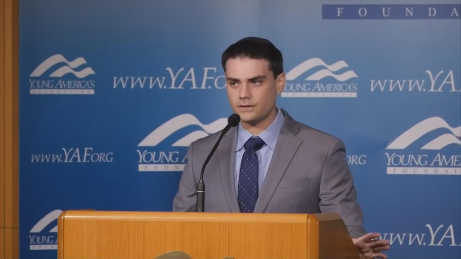 Ben Shapiro speaks at a Young America's Foundation event.