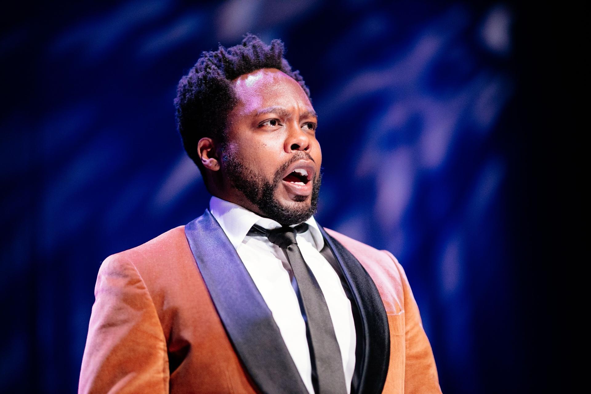 """Baritone Will Liverman in """"Rimsky Rebooted."""" (Credit: Sean Su for Chicago Opera Theater)"""