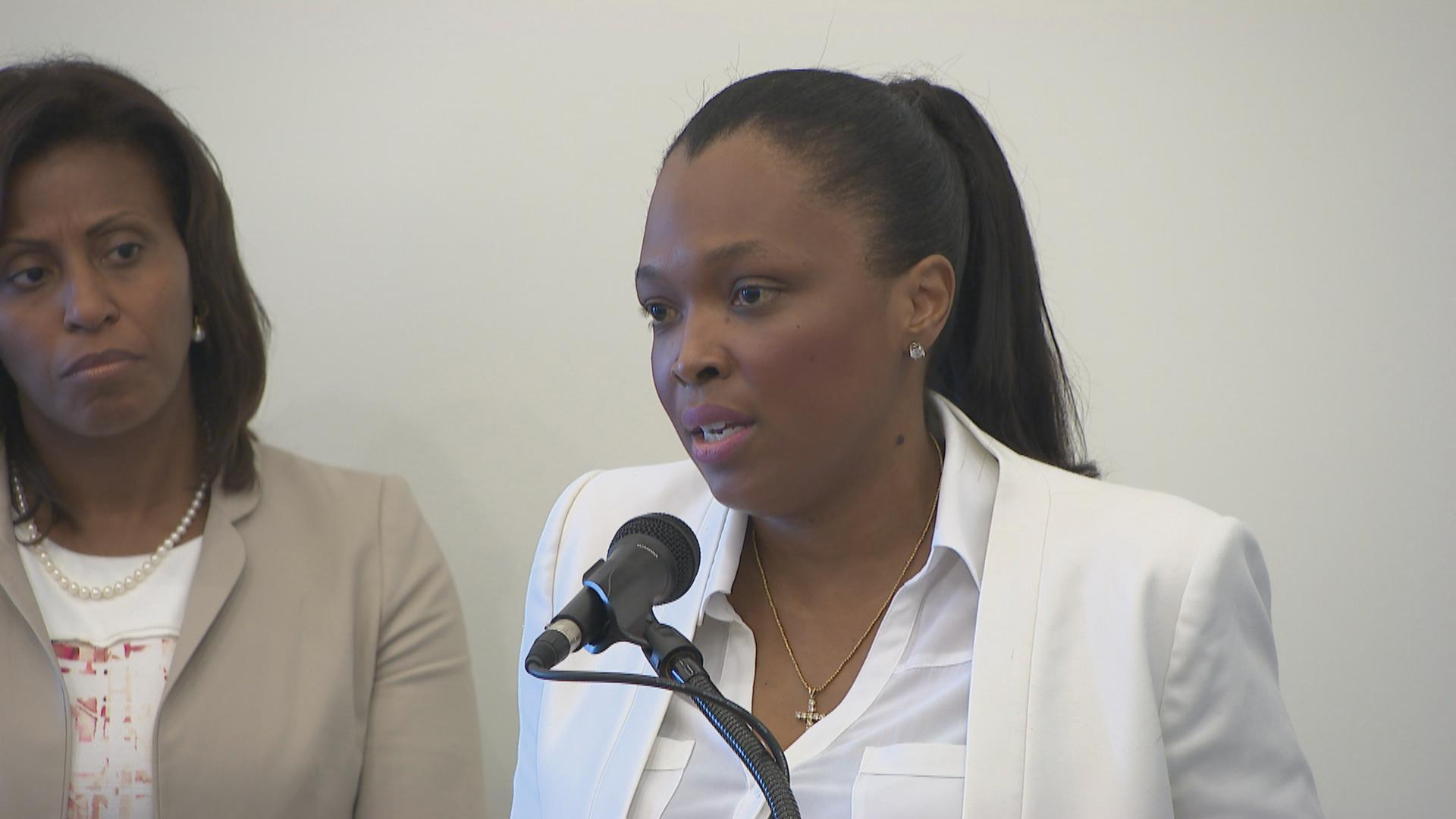 CPS CEO Janice Jackson speaks during a press conference on Monday, June 18, 2018. (Chicago Tonight)