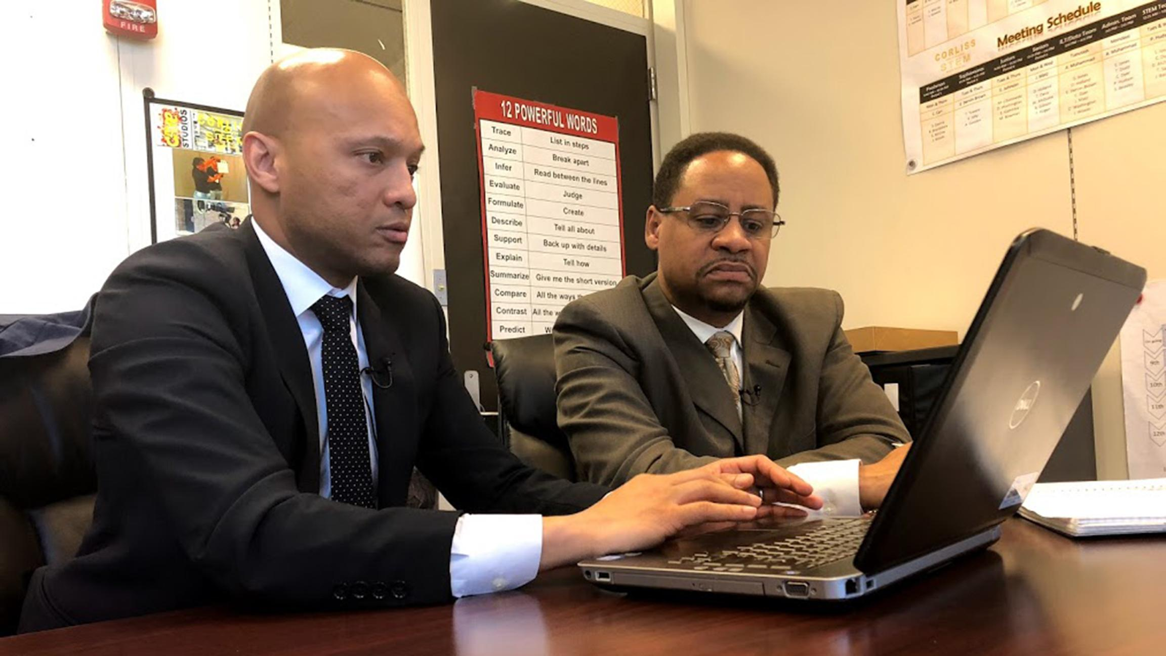 Greg Jones and Ali Muhammad are Chicago Public Schools principals, and  they're both trying to improve student achievement at Corliss High School  in the ...