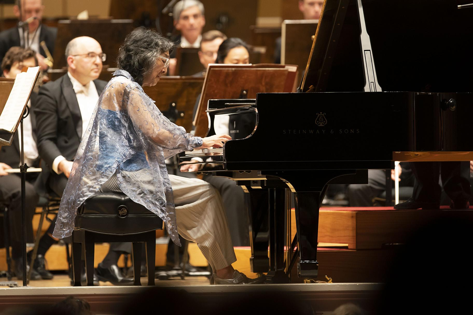 Pianist Mitsuko Uchida is soloist in Mozart's Piano Concerto No. 20 with the Chicago Symphony Orchestra. (Photo Credit: Todd Rosenberg)
