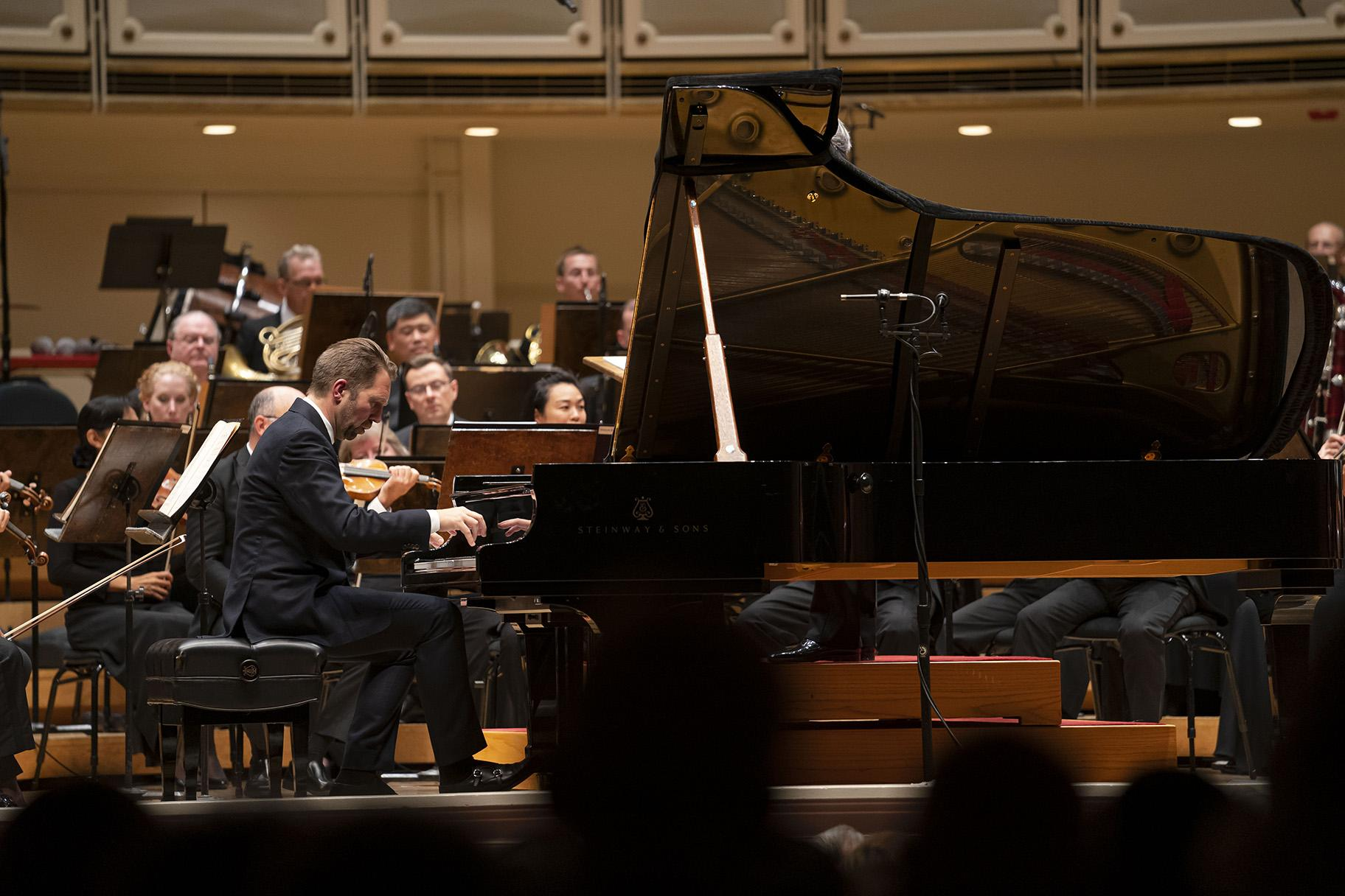 Leif Ove Andsnes performs Grieg's Piano Concerto with the Chicago Symphony Orchestra led by CSO Music Director Riccardo Muti on Sept. 19, 2019, in Orchestra Hall. (Photo by Todd Rosenberg)