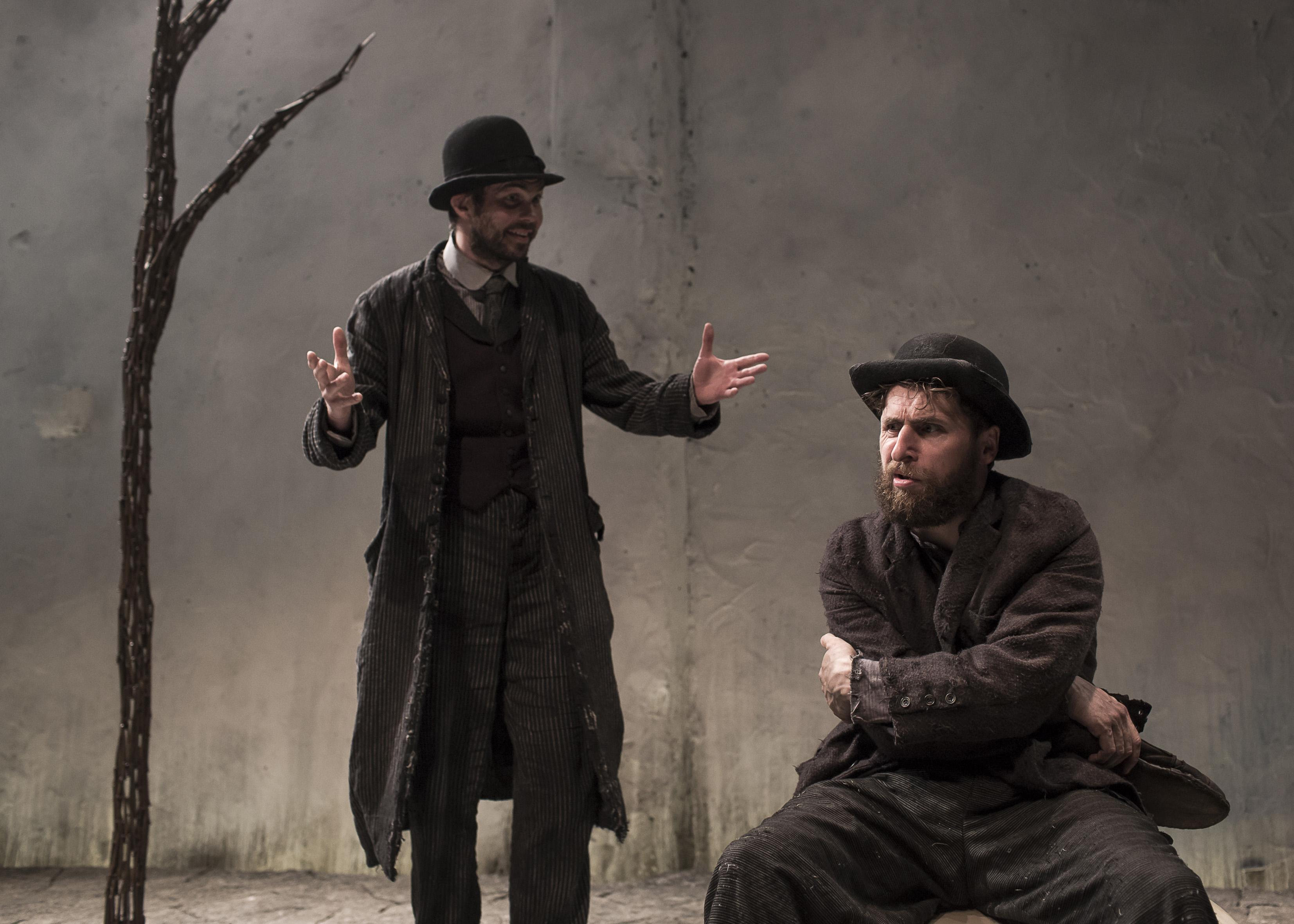 "Marty Rea and Aaron Monaghan in ""Waiting for Godot."" (Photo by Matthew Thompson)"