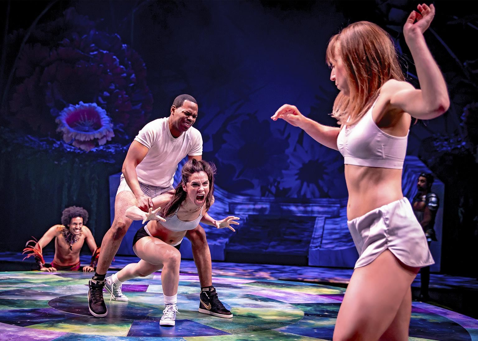 "From left: Sam Kebede, Tyrone Phillips, Melisa Soledad Pereyra and Cristina Panfilio in ""A Midsummer Night's Dream."" (Photo by Liz Lauren)"