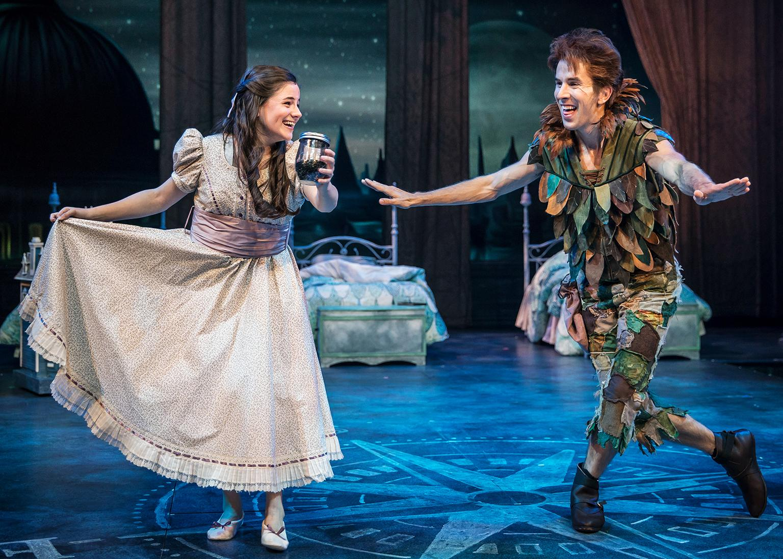 "Elizabeth Stenholt and Johnny Shea in ""Peter Pan – A Musical Adventure."" (Photo by Liz Lauren)"