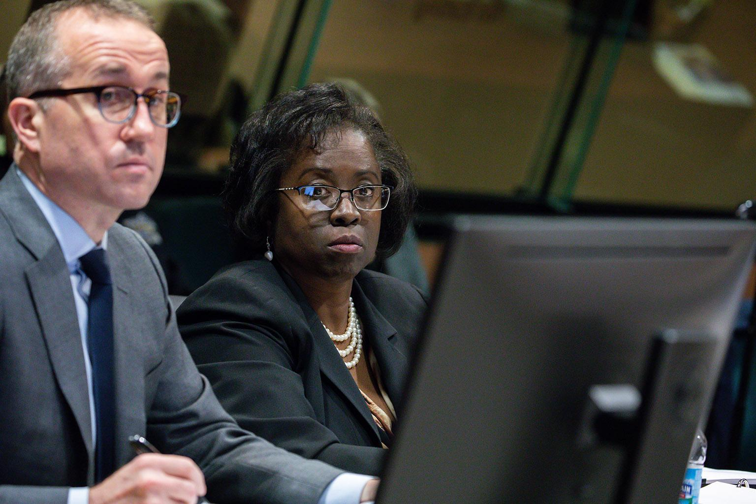Special prosecutor Patricia Brown Holmes and assistant Brian Watson on Tuesday, Dec. 4, 2018. (Zbigniew Bzdak / Chicago Tribune / Pool)