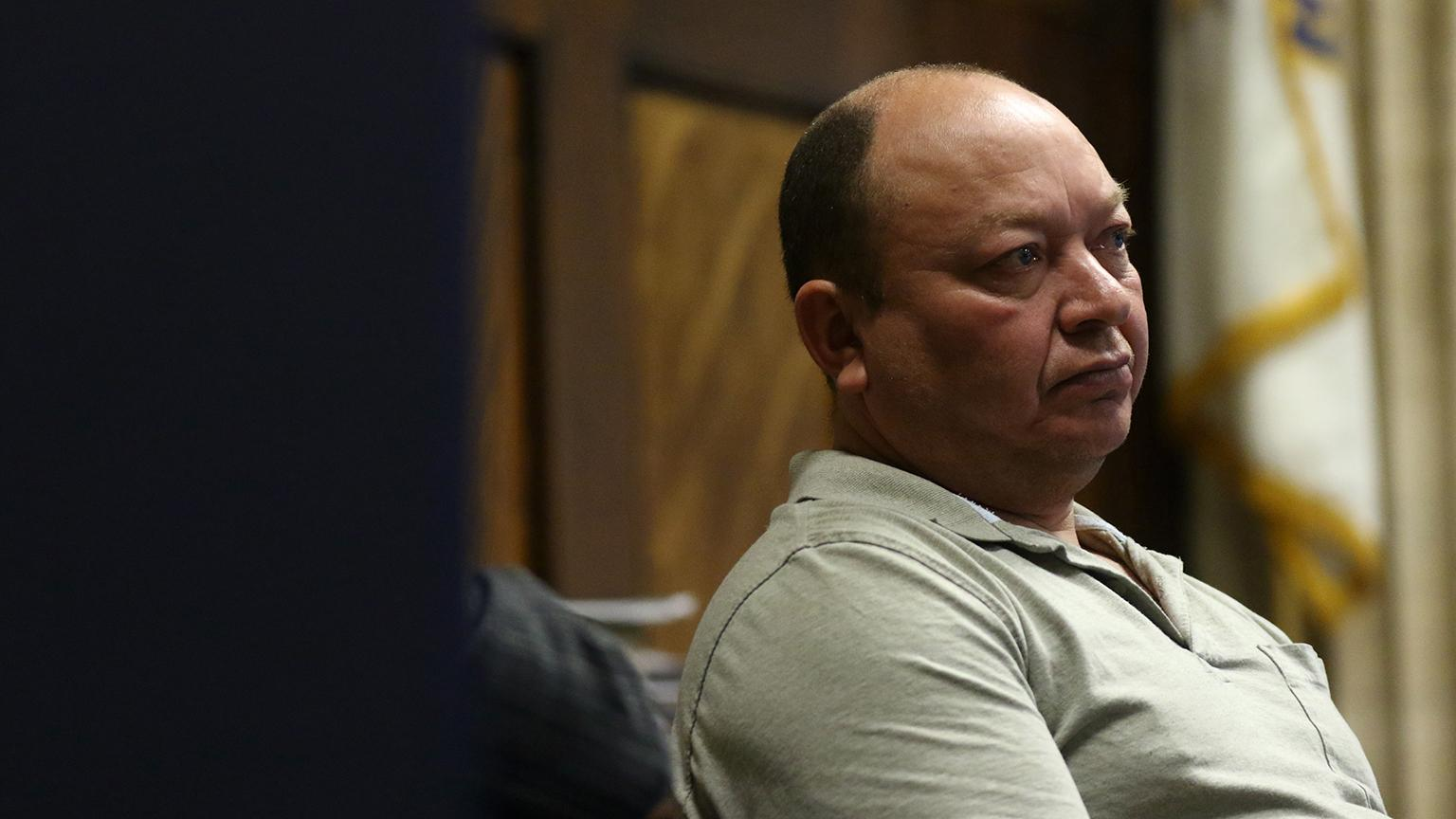 Truck driver Rudy Barillas testifies on Wednesday, Sept. 26, 2018. (John J. Kim / Chicago Tribune / Pool)