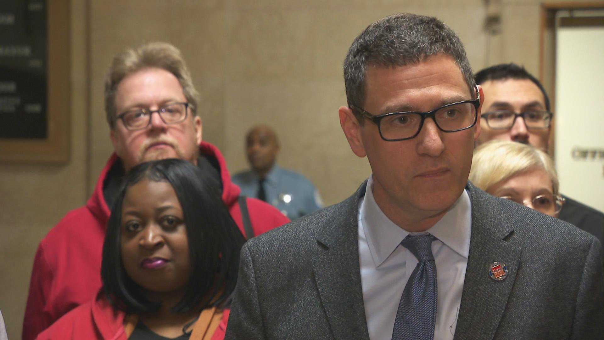 Chicago Teachers Union Vice President Jesse Sharkey said Monday that proposed school closings may violate its labor agreement with CPS. (Chicago Tonight)
