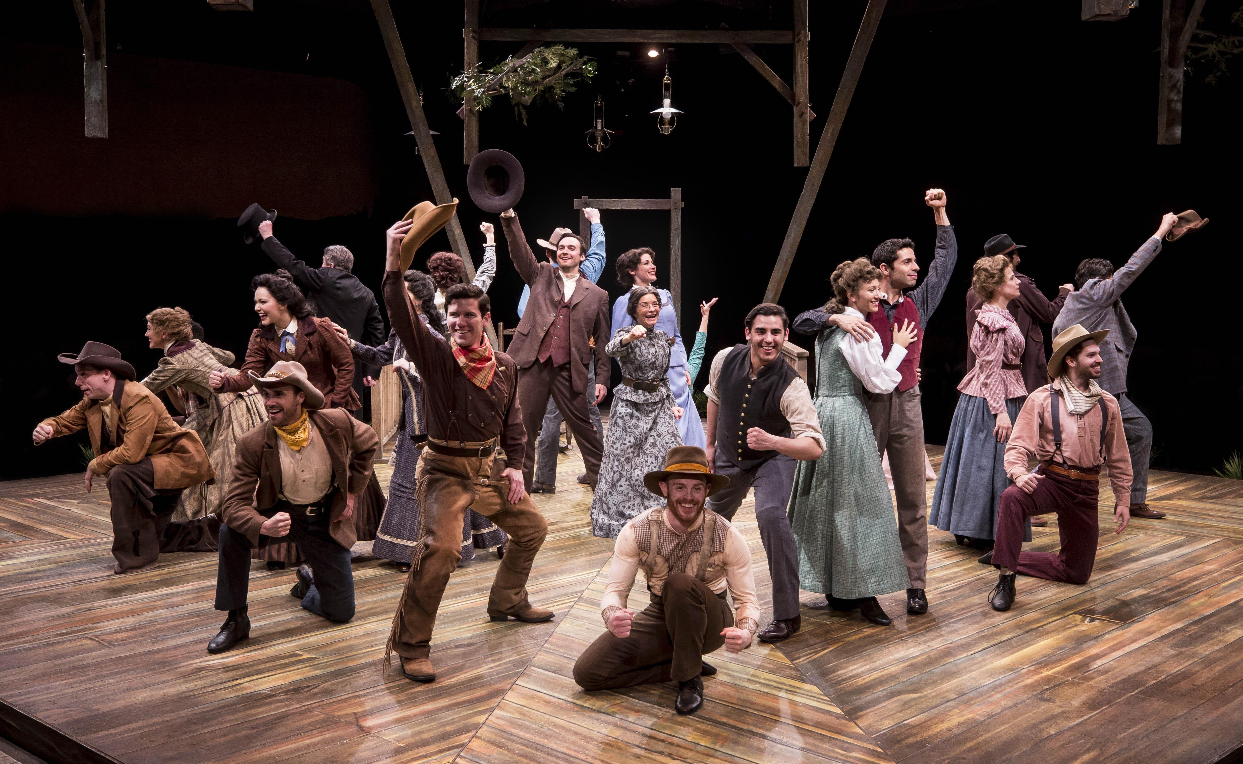 "The cast of ""Oklahoma!"" at Marriott Theatre in Lincolnshire. (Photo by Liz Lauren)"