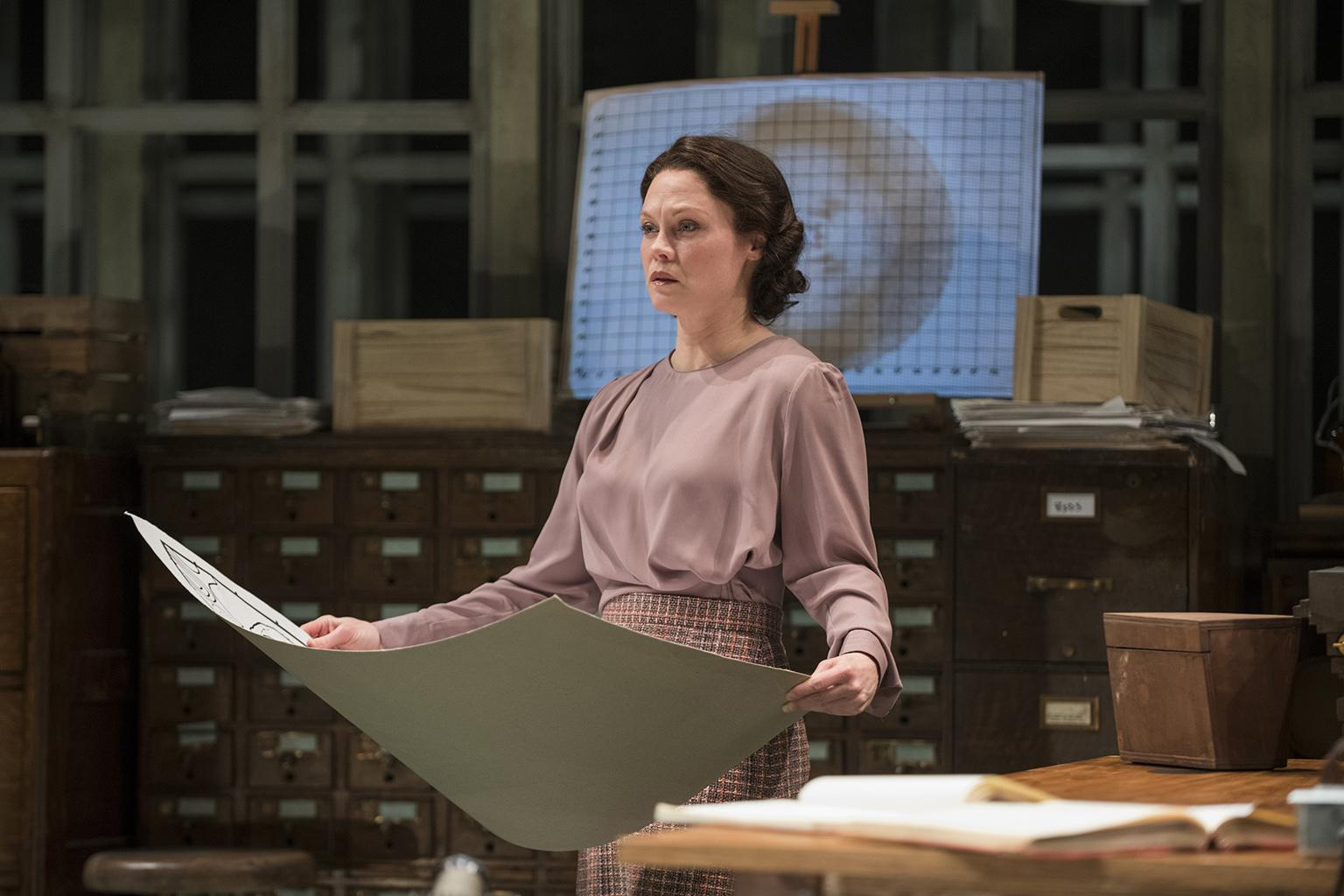"Chaon Cross plays Dr. Rosalind Franklin in Anna Ziegler's ""Photograph 51"" at Court Theatre. (Photo by Michael Brosilow)"