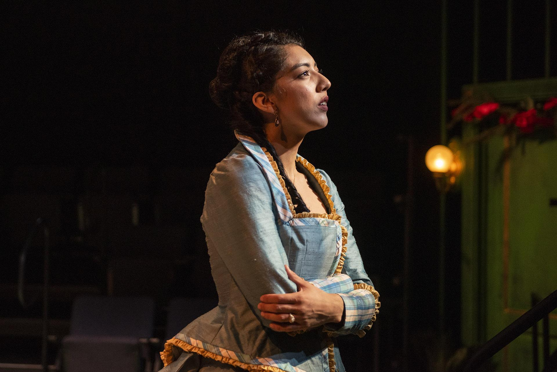 "Cher Álvarez (Nora) in ""A Doll's House."" (Photo by Michael Brosilow)"