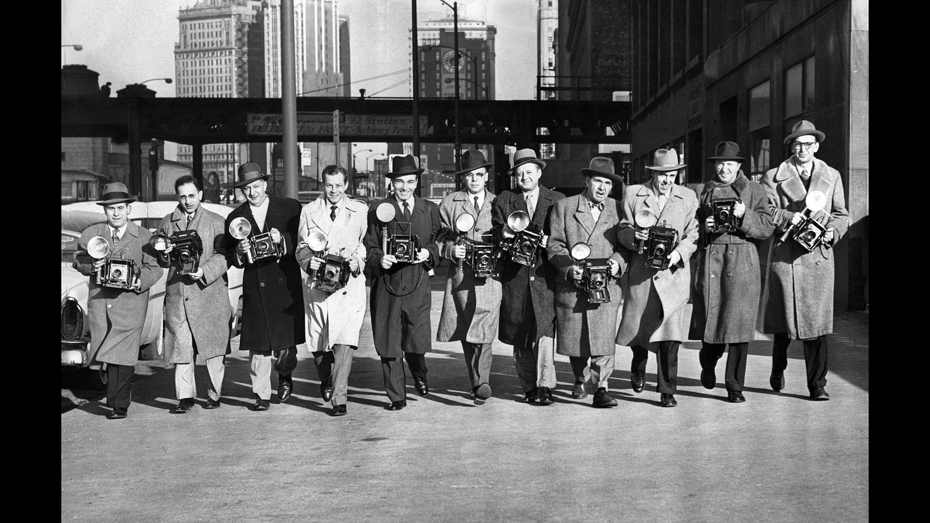 Chicago Sun-Times photographers, 1956. (Courtesy the Chicago History Museum)