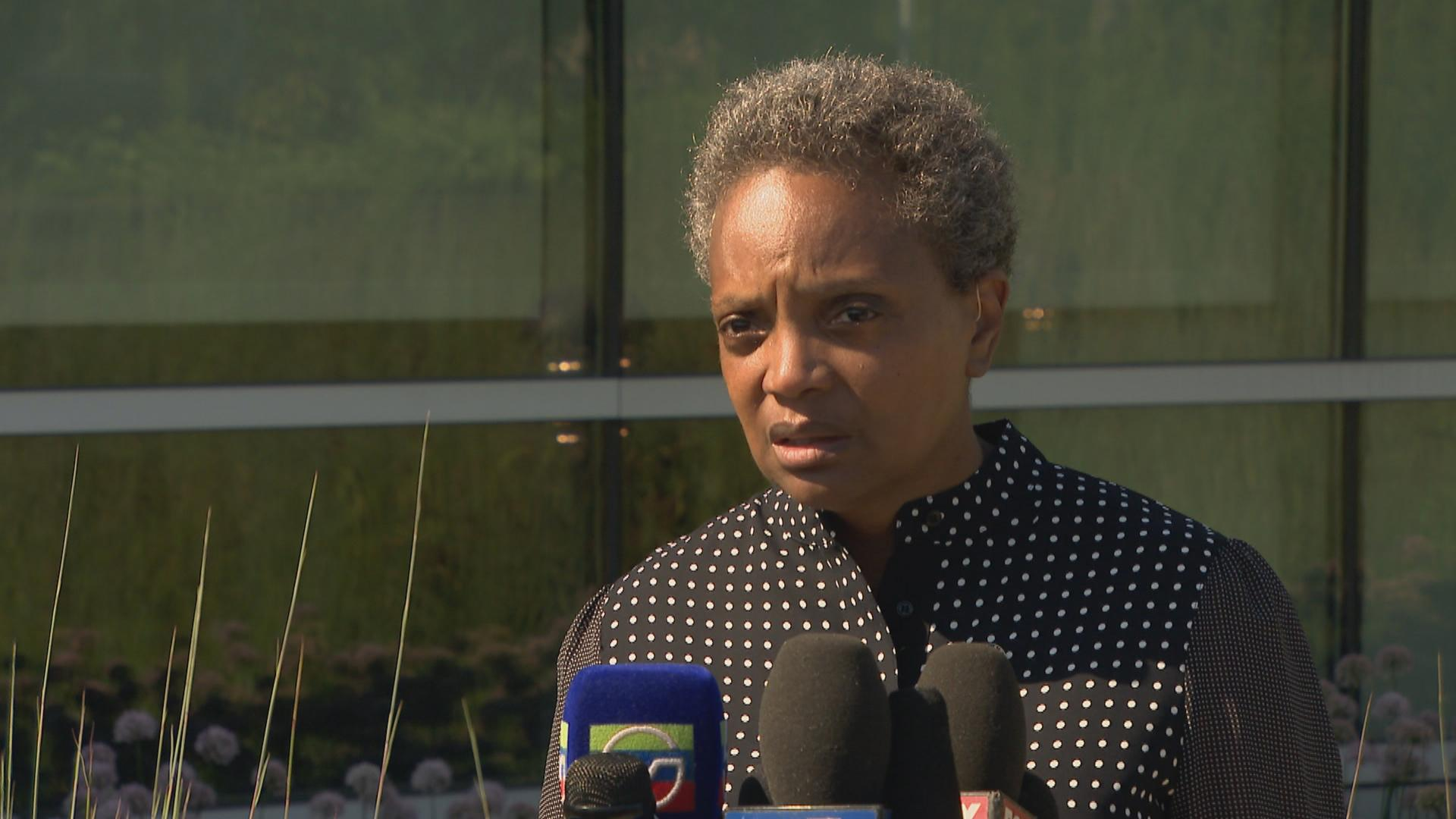 """We have to stand up and do a hell of a lot more than we've done in a very long time,"" Chicago Mayor Lori Lightfoot said Monday, Aug. 5, 2019, following a violent weekend in Chicago and mass shootings that left more than 30 people dead in El Paso, Texas, and Dayton, Ohio."