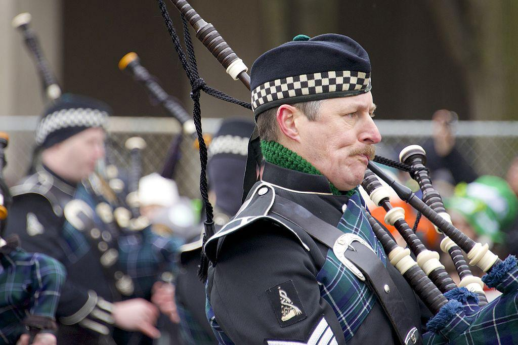 Bagpipes are expected to make their presence known at Sunday's parade. (Jamie McCaffrey / Wikimedia)