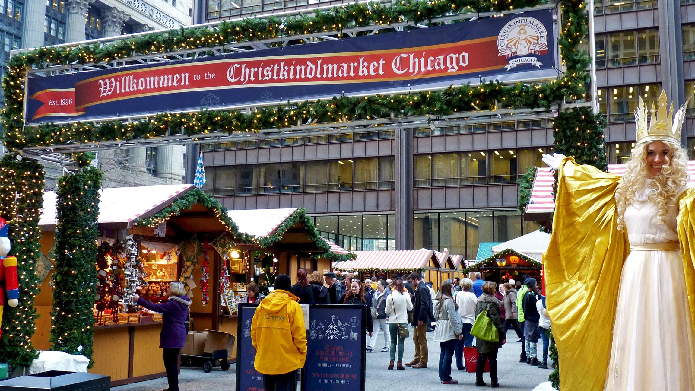 Christkindlmarket: Go for the shopping. Stay for the hot spiced wine and sausages. (Courtesy of Christkindlmarket)