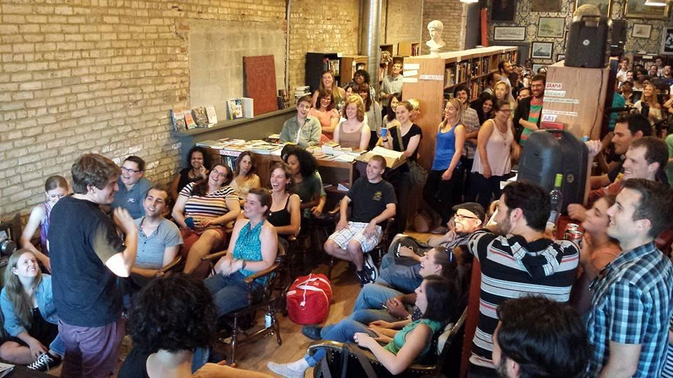 Laugh it up at a free comedy show in a Logan Square bookshop. (Courtesy of Congrats on Your Success)