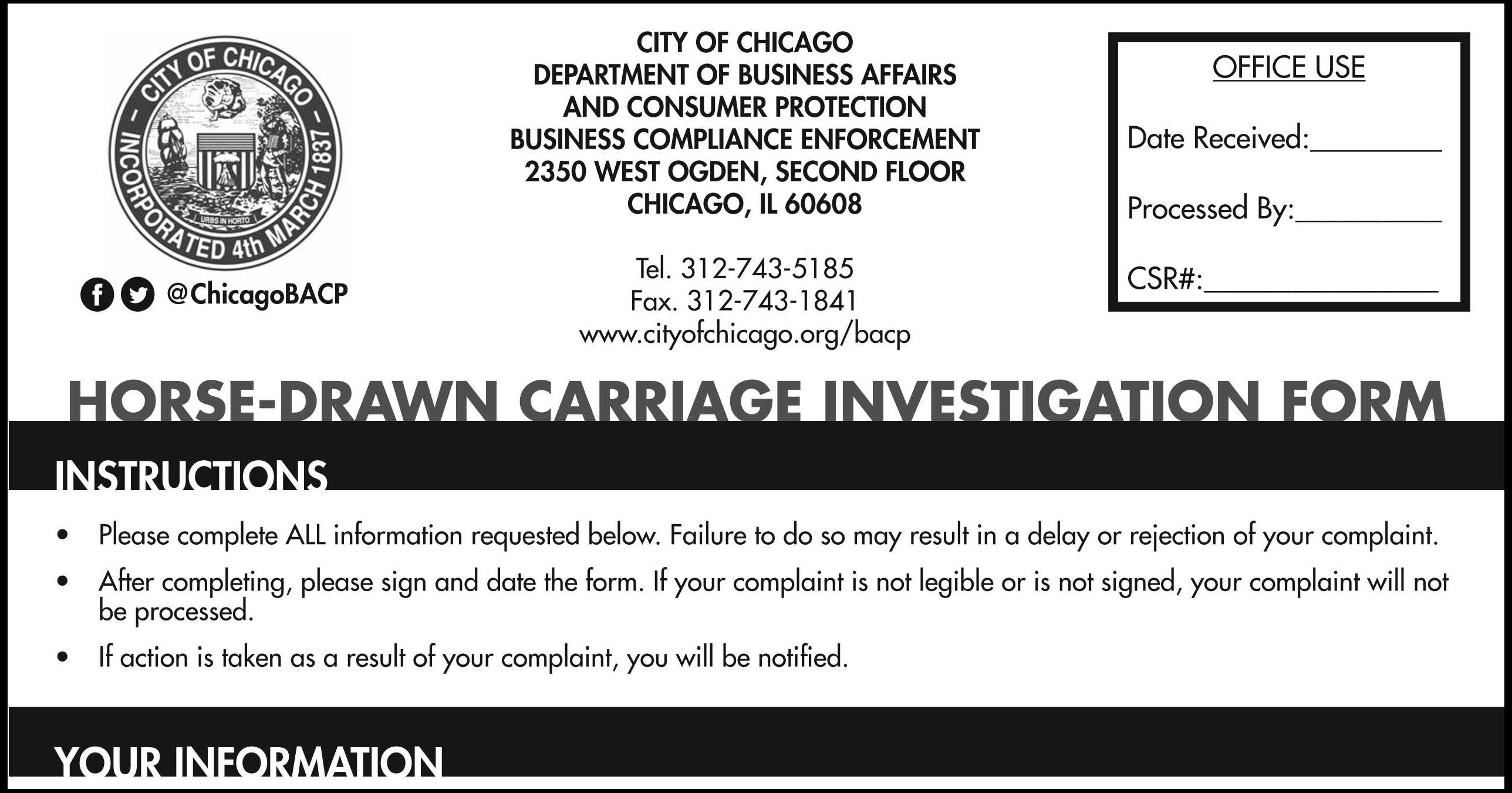 Complaints filed by Chicago Alliance for Animals have coincided with a spike in violations against horse-drawn carriage operators. (Chicago Business Affairs and Consumer Protection)